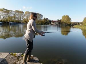 Anne 300x225 Stage de pêche pour ces dames