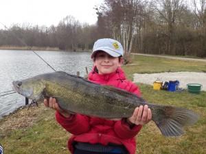 sandre gab 90cm 300x225 Colonie de pêche de février, une réussite! Dernière partie