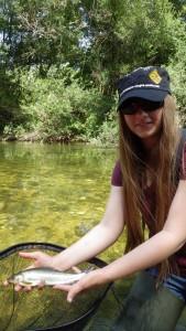 IMGP2068 169x300 Camp de pêche de la truite jeune et ados en Champagne