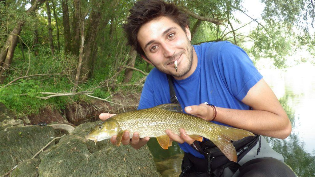IMGP3426 1024x576 Stage de pêche du barbeau à la mouche